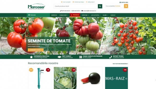 Design prima pagina a site-ului marcoser.ro